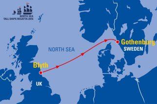The North Sea Tall Ships Regatta 2016 route map