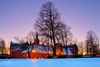 The castle at Halmstad in the snow